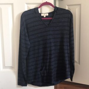 NWOT Hippie Rose Pullover Navy with Black Stripes